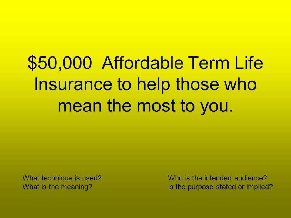 $50,000 Affordable Term Life Insurance to help those who mean the most to you.
