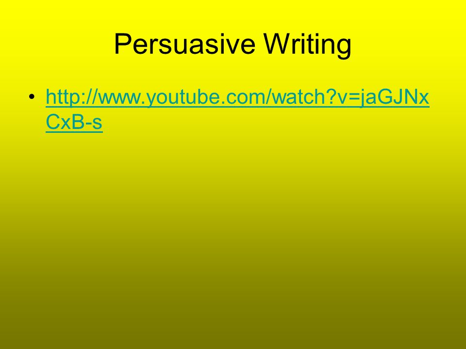 Persuasive Technique Examples Decide what technique is used, who the audience is, the meaning, and if the purpose is stated or implied.