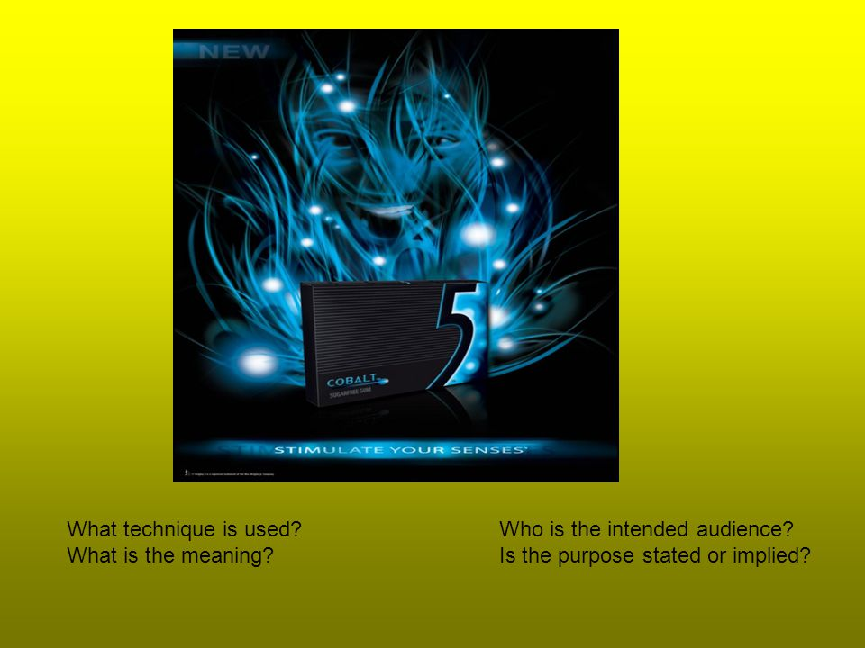 What technique is used.Who is the intended audience.