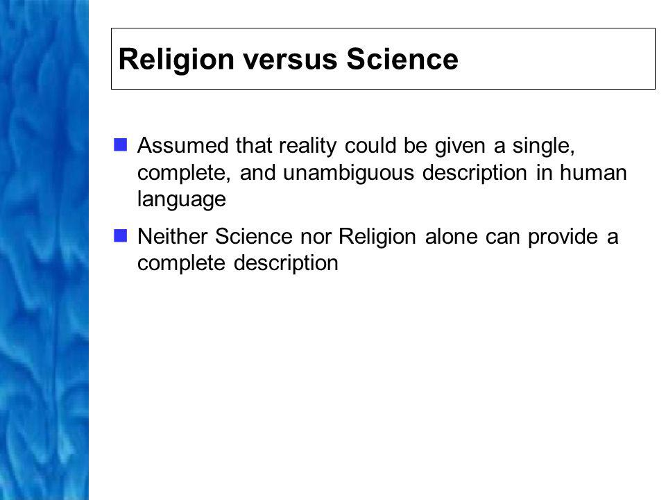 Science and Spirituality 1997 survey of US scientists revealed 40% believed in a personal God Quantum pioneers, including Einstein and Bohr, have been described as mystics Importance of the integration of scientific and spiritual knowledge Complementary aspects of a greater whole, each capturing a differing and partial representation of a greater reality