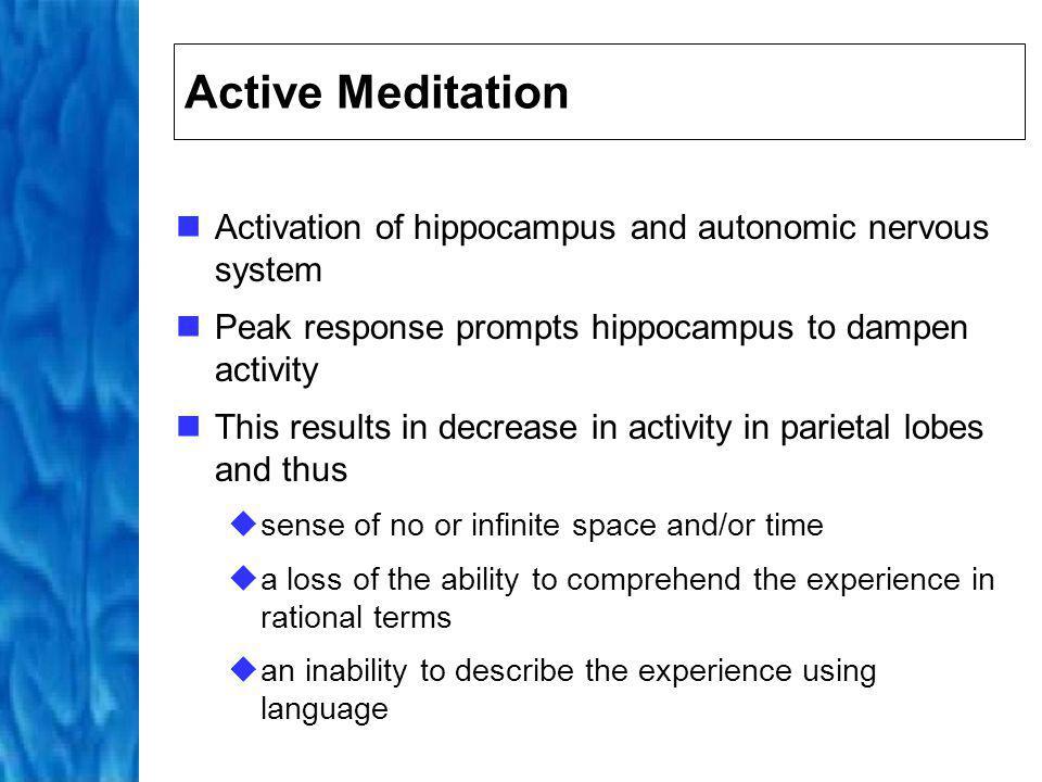 Simplified Meditation Process Decrease in activity Increase in activity 5 1 1 3 2 4