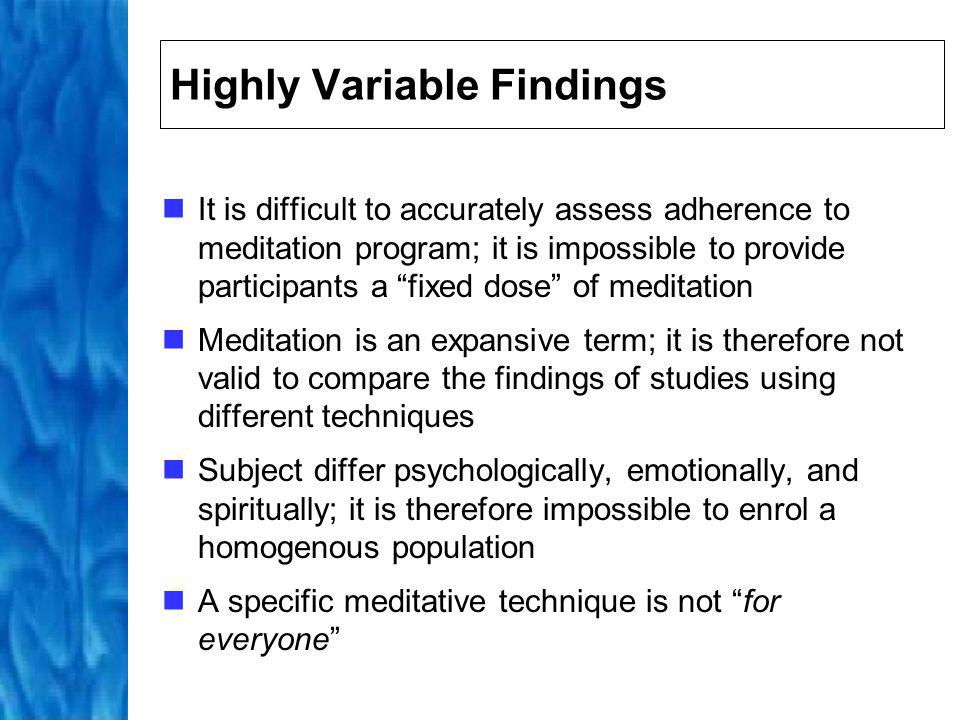 Mindfulness-Based Stress Reduction Technique first proposed by Jon Kabat-Zinn and his colleagues in 1979 Possible therapeutic option for patients suffering from physical, psychosomatic, and psychiatric disorders Although taught independently of any religious or esoteric tradition, it is rooted in contemplative spiritual traditions Trains practitioner to develop enhanced awareness of the moment-to-moment experience of emergent mental processes