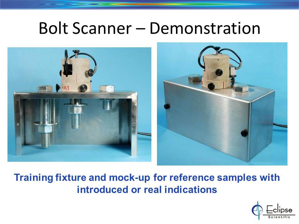 Bridge Pin Mock-up Instrument: OmniScan MX – 16/128 or 32-128 Calibration Blocks – NAVSHIP Block Mock-up Pins – – Introduced targets – Clean sample