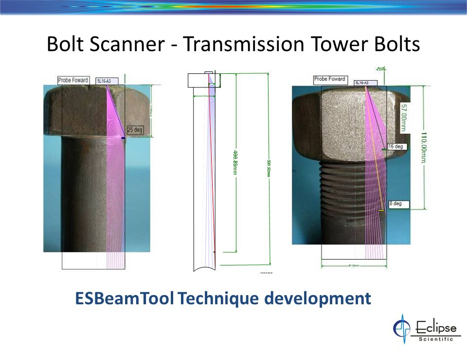 Bolt Scanner - Tower Bolt Analysis Indications from nut end