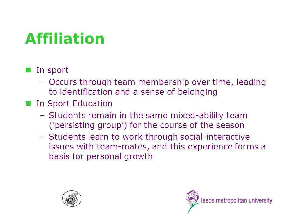 Roles In sport, there are… In Sport Education, students are: –Players –Timekeepers –Scorekeepers –Equipment officers –Referees –Sports Panel members –Coach & etc