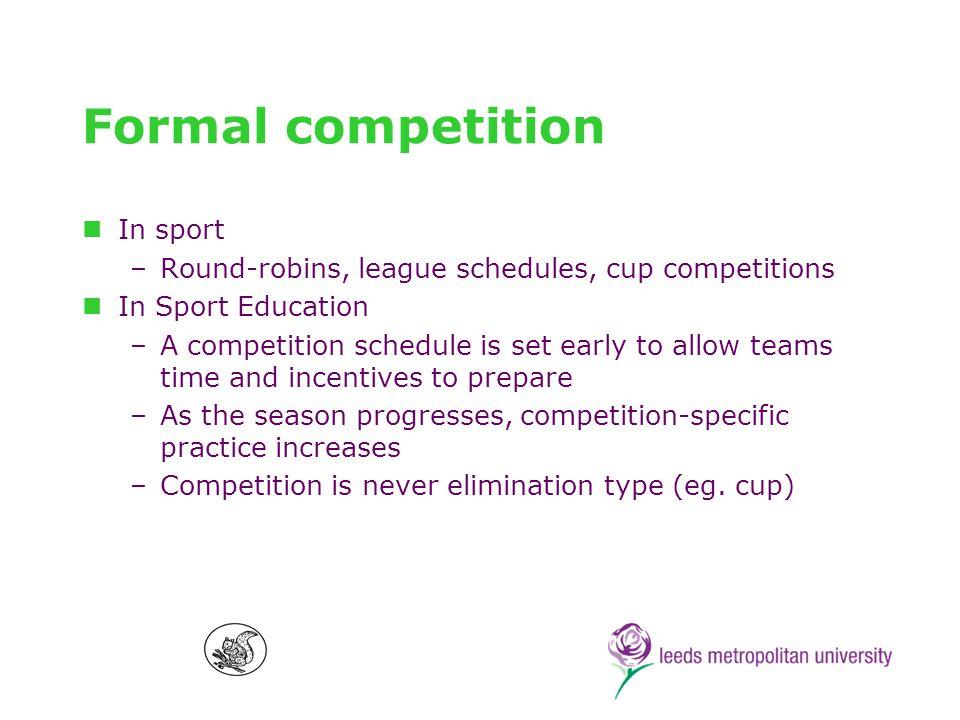 Culminating event In sport –Eg.play-offs, grand-finals, etc.
