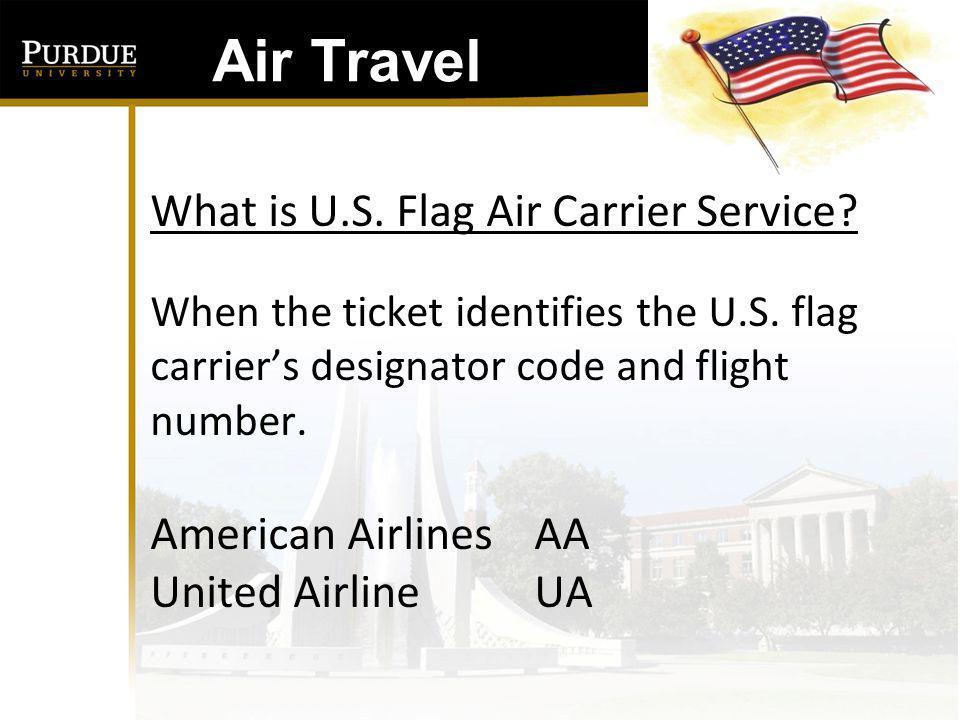 Air Travel: CODE SHARE U.S.