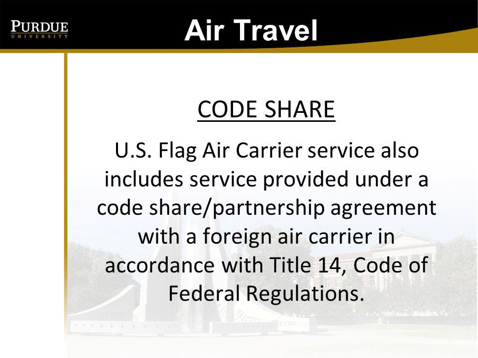 Air Travel: What is a CODE SHARE Flight.