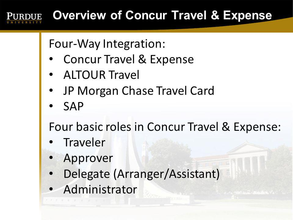 Overview of Concur Travel & Expense Implementation/Rollout Plan We are currently in a soft pilot rollout of Comptroller, Procurement and University Development The Rollout will follow the HR Org Chart rollout and is expected to take at least 8-10 months.