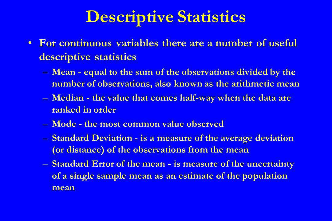 Data Distributions Frequency distribution –If there are more than about 20 observations, a useful first step in summarizing quantitative data is to form a frequency distribution.