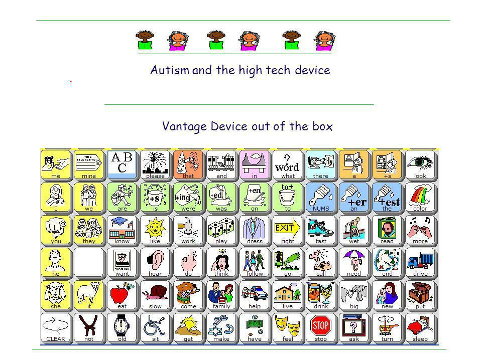 . Autism and the high tech device Unity 1.5 – Core + Fringe Single Hit