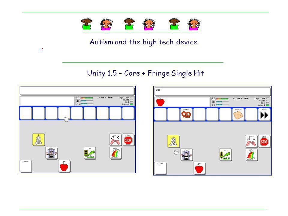 . Maddie : Motor Planning + speech output Her User : Unity 1.5