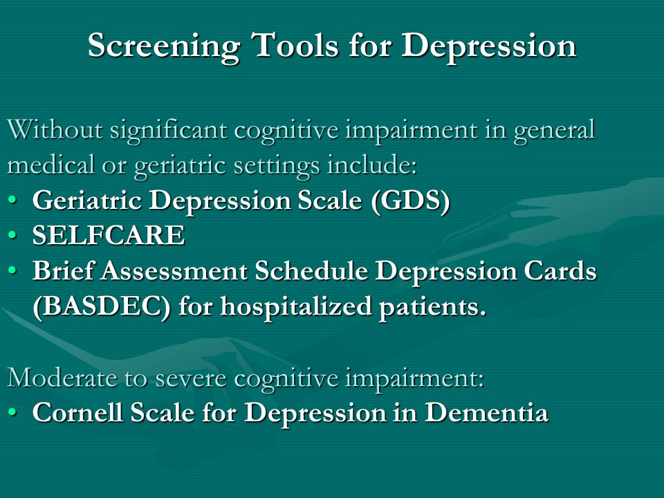 Are my older patients at higher risk of depression.