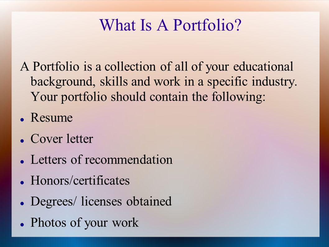 How Do I Create A Portfolio.