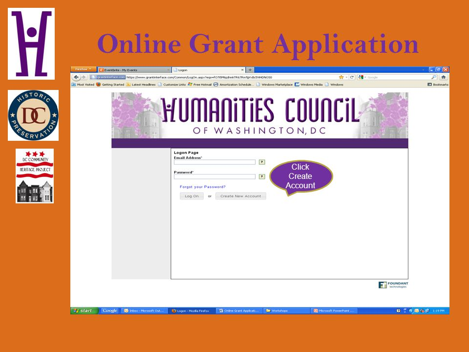 Online Grant Registration You will be prompted to submit the name of the Project Director and Fiscal Sponsor Agent