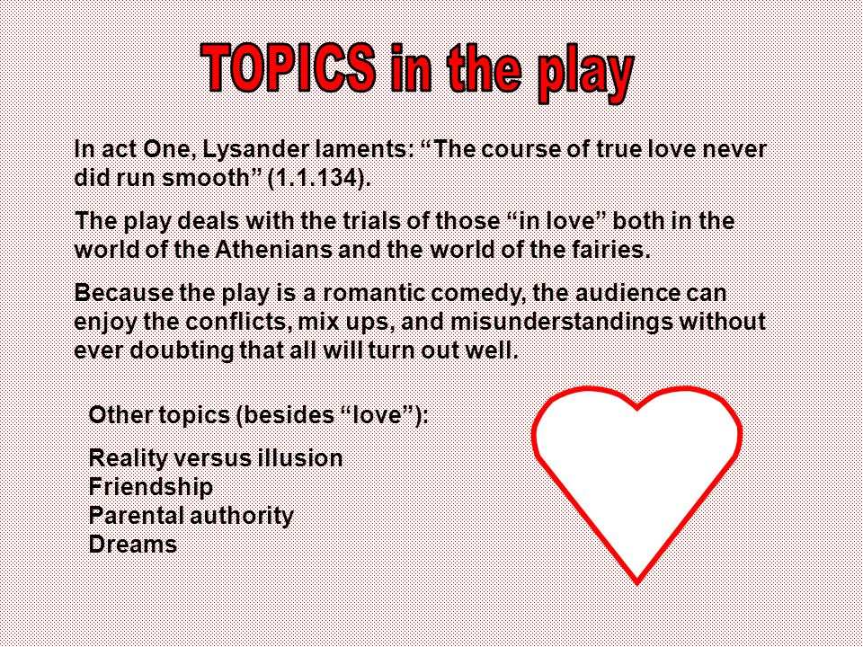 The play is a study in Some of the contrasts in the play: Reality vs.