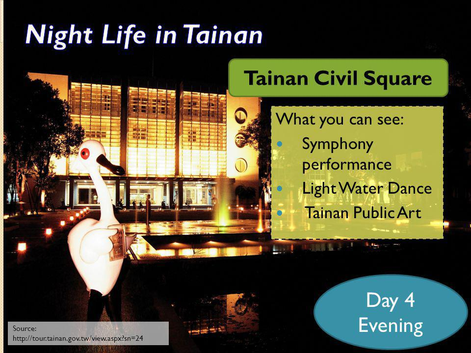 What can you see in Tainan: 1.The Salt Field and the biggest Lagoon of Taiwan 2.