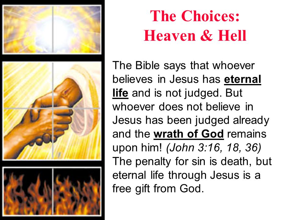 The Choices: Heaven & Hell What choice will you make.
