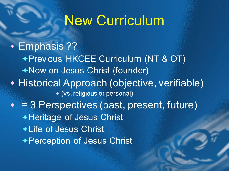 I)Heritage of Jesus Christ = Background 1) Historical Background 1) =Old Testament (Jewish Bible in itself) 2) Its themes serve as heritage of the new rel.