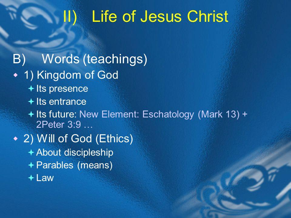 III)Perception of Jesus Christ =The Continuation of Jesus Ministry A) Jesus Identity teacher, prophet, Messiah, Son of man, Son of God, etc.