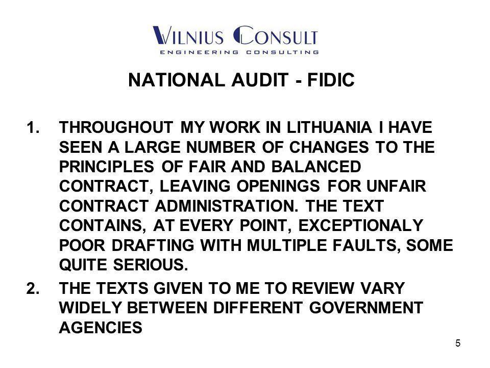 6 NATIONAL AUDIT - FIDIC 1.