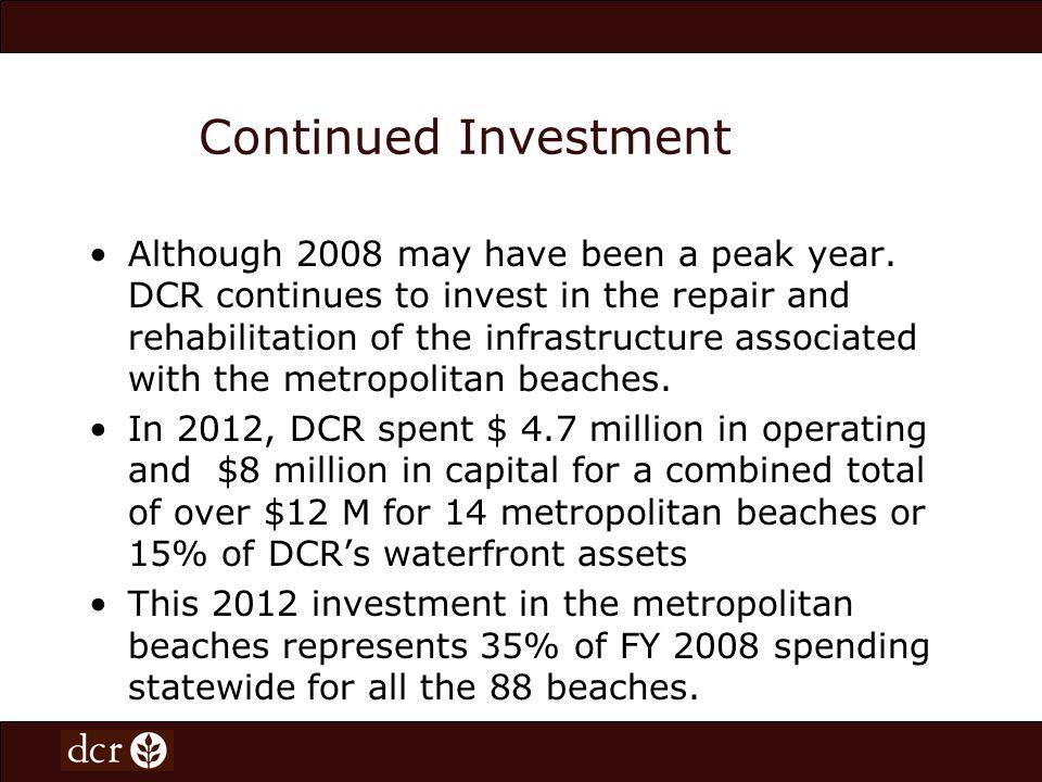 Metropolitan Beaches Budget Overview Metropolitan Beaches Commission: Beach Expenditures Operating