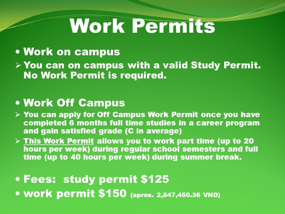 Post Graduation Work Permit If you studied for….Then….