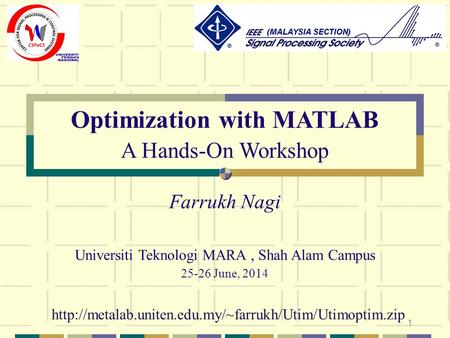 Optimization with MATLAB
