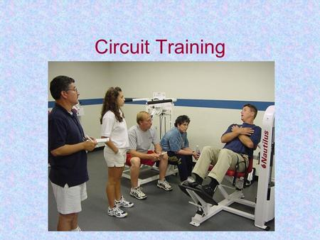 Circuit Training. Circuit training typically involves a series of different exercises that you perform sequentially and continuously for one or more rounds.