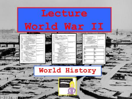 Lecture <strong>World</strong> <strong>War</strong> <strong>II</strong> <strong>World</strong> History Pair-Share What do you already KNOW about WWII? What do you WANT to learn about WWII? What do you PREDICT we will.