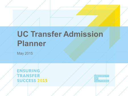 UC Transfer Admission Planner