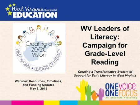 WV Leaders of Literacy: Campaign for Grade-Level Reading