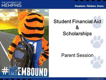Student Financial Aid & Scholarships Parent Session.