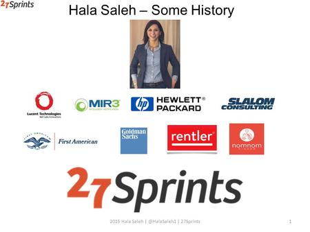 12015 Hala Saleh | 27Sprints Hala Saleh – Some History.