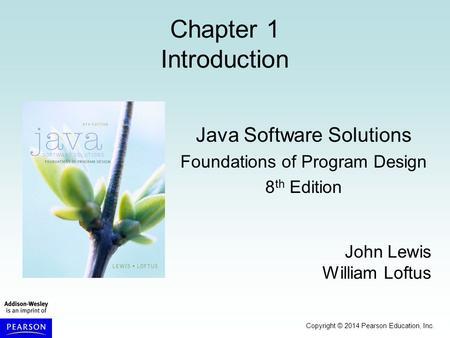 Java Software Solutions Foundations Of Program Design Th
