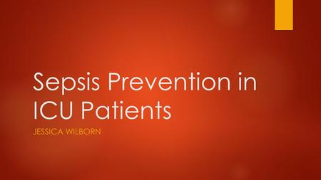 Sepsis Prevention in ICU Patients