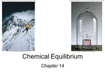 Chemical Equilibrium Chapter 14.