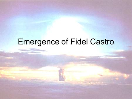 Emergence of Fidel Castro. Spanish Rule By 1898, the U.S. had liberated Cuba from Spain, who oppressed and mismanaged Cuba Although promised their independence,