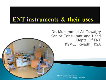 ENT instruments & their uses