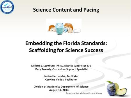 Science Content and Pacing