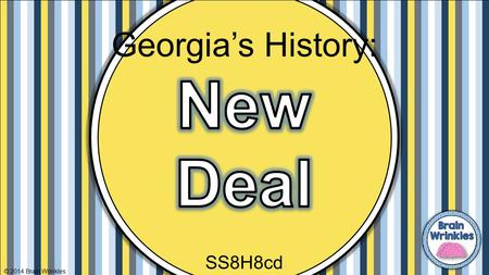 Georgia's History: New Deal SS8H8cd © 2014 Brain Wrinkles.