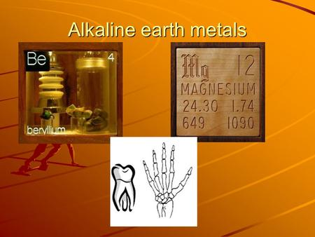 Alkaline earth metals. Alkaline earth metals (cont.)