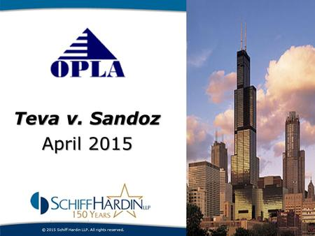 Patent Enforcement Teva v. Sandoz April 2015 introduction.