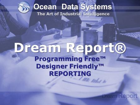 Dream Report® Programming Free™ Designer Friendly™ REPORTING