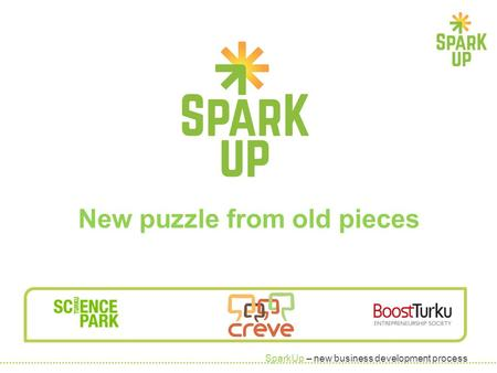 SparkUp – new business development process New puzzle from old pieces.