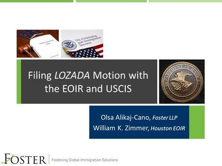 Filing LOZADA Motion with the EOIR and USCIS