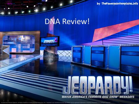 DNA Review!. Structure Scientists VocabProtein SynthesisRNA vs. DNA $100 $200 $300 $400 $500 FINAL JEOPARDY FINAL JEOPARDY.