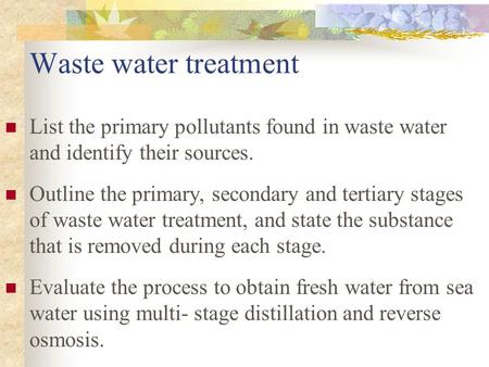 the primary and secondary phosphates in water pollution