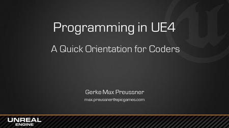 A Quick Orientation for Coders