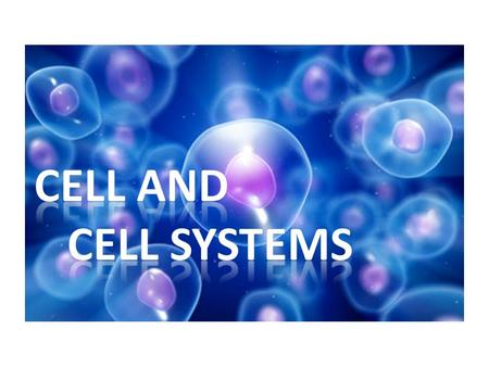Cell and Cell Systems. 6 characteristics of living things CharacteristicsExample Composed of cellsBlood cells, skin cells, etc. Reproduce, grow, repair.